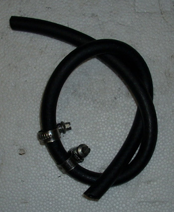 Hose complete (fuel pump to carburtetor) with 2 screw clamp