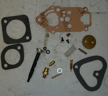 Carburator reconditioned kit (28er) with Injektion and Damper flap axle for Fiat 126 engine