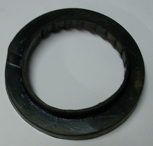 Rubber ring for spiral spring
