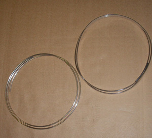 Chrome band with glue - SET (2 pieces - for ONE Fiat 500 roof)