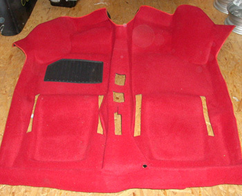 Carpet coating - red - one-piece