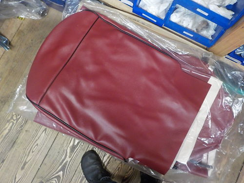 Seat cover for Fiat 500 F - synthetik leather - RED