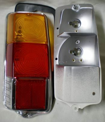 Taillight complete with Gasket, left side without screws