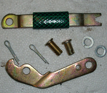 Hand brake - Set of lever, complete , right side