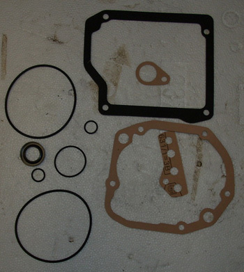 Gear gasket kit with oil-seal ring (also BIS)
