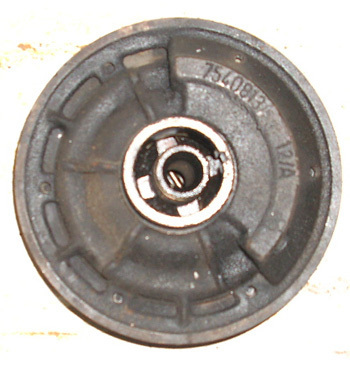 Oil thrower-filter for V-belt wheel 126 BIS and Giardinera, used ,complete