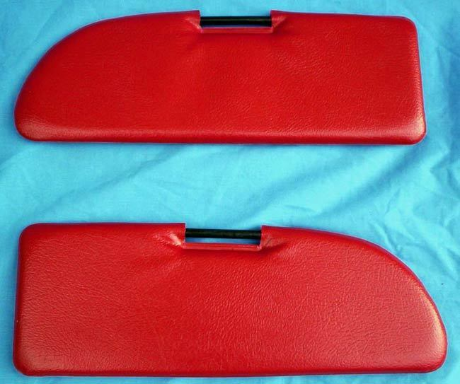 Sun visor SET red -SET
