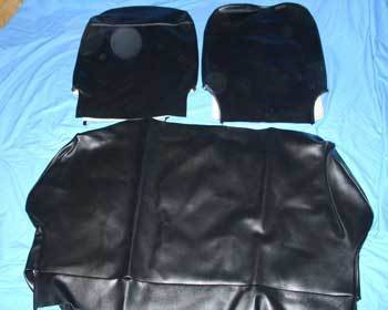 Seat cover for Fiat 500 F - synthetik leather - BLACK