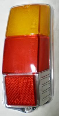 Taillight glass glossy - right side Fiat 500