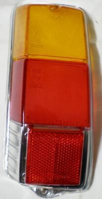 Taillight glass glossy - left side Fiat 500