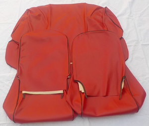 Seat cover for Fiat 500 R - synthetik leather -RED