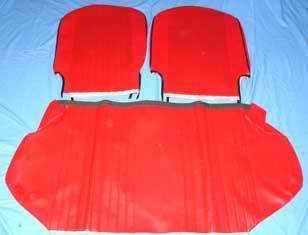 Seat cover for Fiat 500 L -synthetik leather - RED