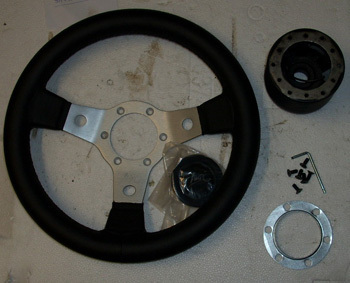 Sport Steering wheel 310 mm - Leather -  Fiat 500/126/126BIS