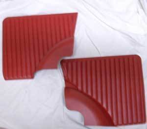 Side carpeting rear 500 L, red SET right and left side