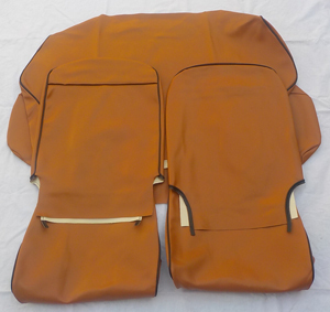 Seat cover for Fiat 500 F - synthetik leather - Ocher