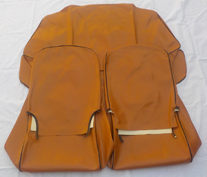 Seat cover for Fiat 500 R - synthetik leather - Ocher