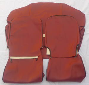 Seat cover for Fiat 500 R - synthetik leather -Bordeaux
