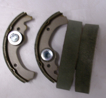 Brake lining / brake shoe service group front or rear - (I) for ONE axle Fiat 500 F/L/R